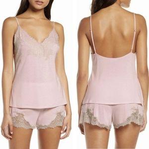 Natori Shangri-La Soft Pink Cami Short Pajama Set